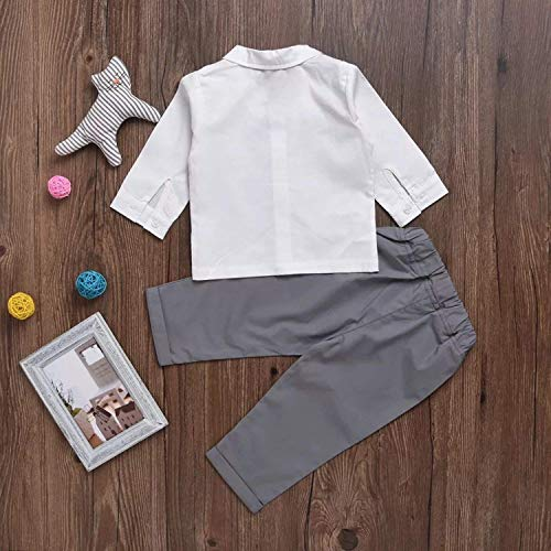 Gubabycci Infant and Toddler Baby Boy Gentleman 2pcs Long Sleeves Formal Party Wedding Suits Outfits by Gubabycci (Image #3)