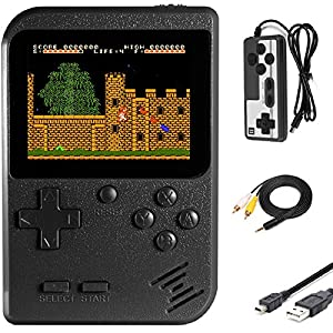 Best Epic Trends 51cXJnbykPL._SS300_ Imponigic Handheld Game Console Retro Mini Game Player with 500 Classic FC Game 1020mAh Rechargeable Battery 3 Inch…