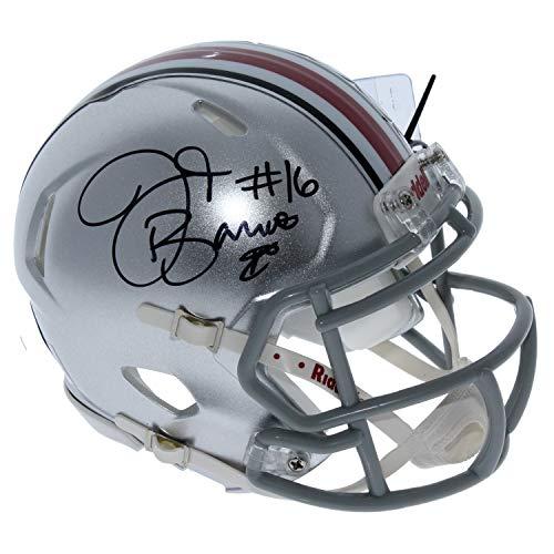JT Barrett Ohio State Buckeyes Autographed Signed Riddell Speed Mini Helmet - Certified ()