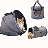 Siivton Multifunctional Cat Bed, Soft Cat Carrier/Cat Tunnel 3 in 1 Pet Cave Bed Foldable Kitty Shelter House with Removable Cushion, Fits Cats and Small Dogs for Home or Outdoor Travel Review