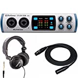 PreSonus Studio 26 USB 2x4 MIDI Interface with Tascam Studio Headphones & XLR Cable