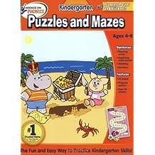 HOP Kindergarten Puzzles and Mazes Basic Workbook