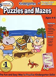 Hooked on Learning Kindergarten Puzzles and Mazes Workbook (Hooked on Phonics)