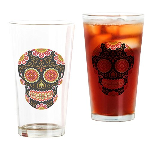 CafePress Black Sugar Skull Pint Glass, 16 oz. Drinking for sale  Delivered anywhere in USA