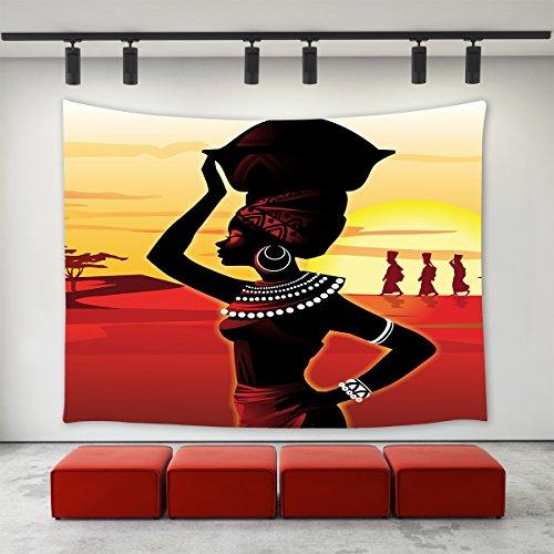 LBKT Custom Home Decor Wall Art African Women Hanging Wall Tapestry 60