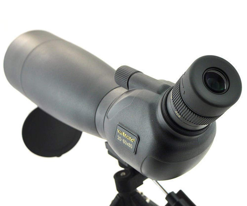 Visionking Spotting Scope 20-60x80 Monocular Telescope for Waterproof Bak4 with Tripod by Visionking