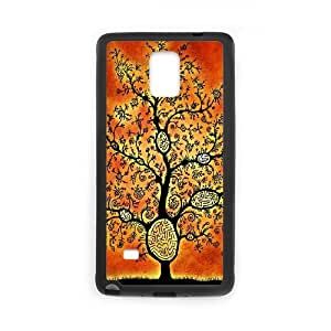 Abstract Tribal Pattern Samsung Galaxy Note 4 Cell Phone Case Black Fdick