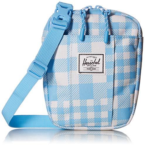 Herschel Cruz Cross Body Bag, Gingham Alaskan Blue, One Size