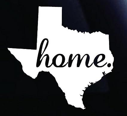 Amazon Cmi682 Home Texas Vinyl Die Cut Decalbumper Sticker For