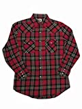 Ely Cattleman Tall Mens Western Brawny Heavy Duty Flannel Plaid 4-Shirt Bundle Pack