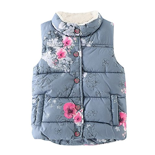 Floral Jackets for Toddler, Warm Baby Waistcoat, Cute Vest Coat for ()