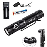 Rofis TR18 CREE XP-L HI V3 LED 1100 Lumens Magnetic Adjustable 150 degree Head 18650 Flashlight Multi Functional Flashlight With Rechargeable Battery