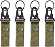 TRIWONDER Tactical Molle Key Ring Gear Key Keeper Nylon Keychain Belt Pouch Key Chain Webbing Holder Military