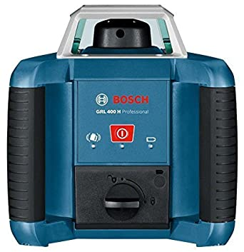 D , 1 pile 9 V, Port/ée 20 m, Laser Rouge, Coffret Bosch Professional Laser rotatif GRL 400 H 1 batterie NiMH, 2 piles 1,5 V LR20, 2 x 1,5 V LR20