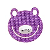 Animal Frog Purple Crystal Toothbrush Holder/Wall Hook 5 Pcs