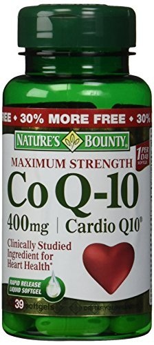 Nature's Bounty Co Q-10 Cardio Q10 400 mg Softgels Maximum Strength 39 CP - Buy Packs and SAVE (Pack of 3) by Nature's Bounty