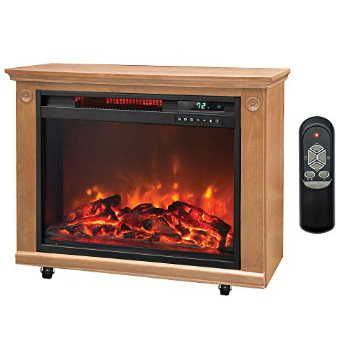 Lifesmart 3 Element Quartz Infrared Electric Portable Fireplace Space Heater (Electrical Heater Portable compare prices)