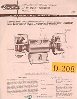 Phenomenal Dayton 1Z707S 3 4 H P Bench Grinder Installtion And Machost Co Dining Chair Design Ideas Machostcouk