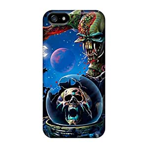 Rugged Skin Case Cover For Iphone 5/5s- Eco-friendly Packaging(iron Maiden)