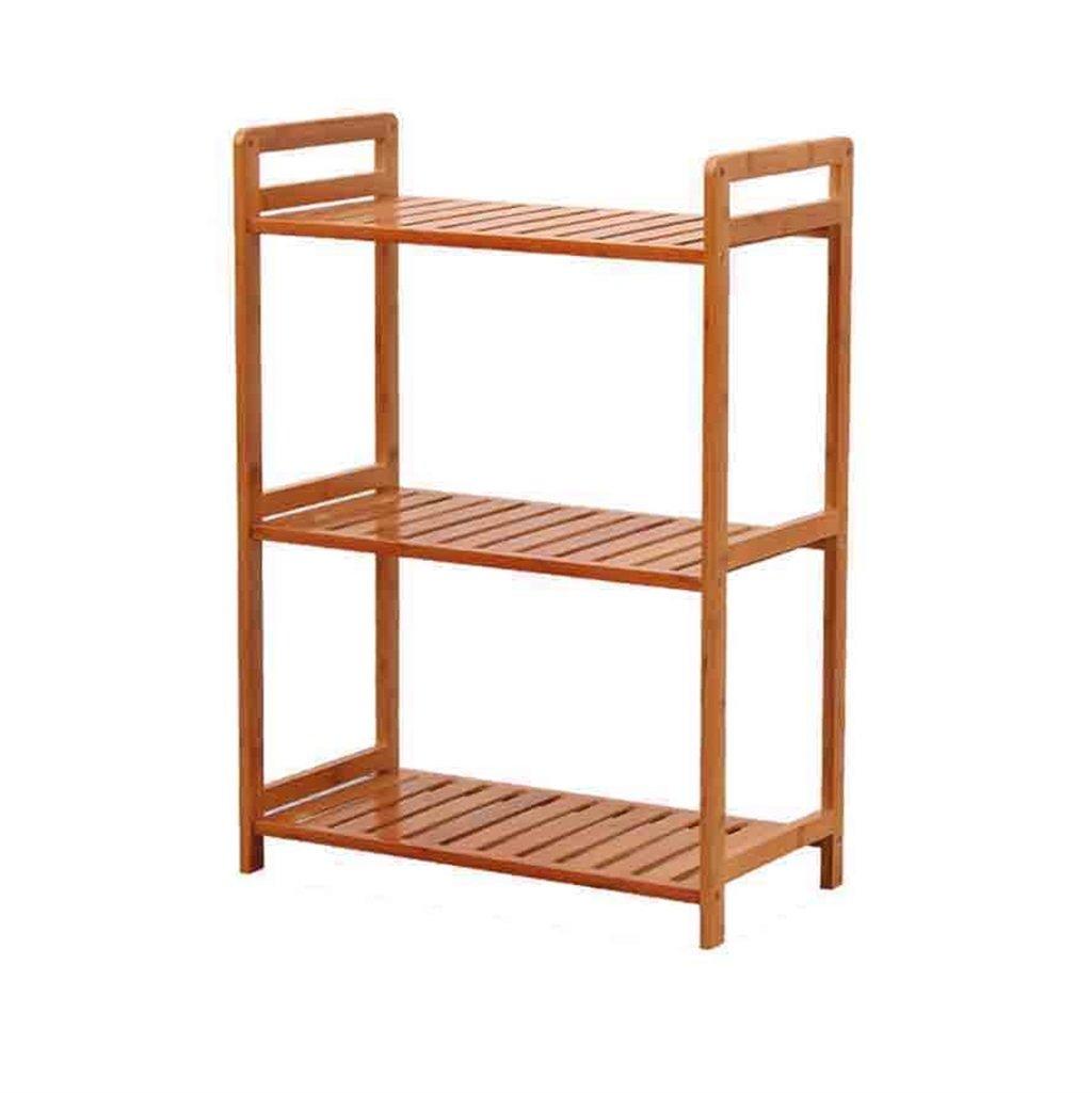 固体の木の3層型のリビングルームキッチン寝室収納棚の棚に立って創造的な本棚 (サイズ さいず : 50CM*26CM*70CM) B07B8ZN8JX   50CM*26CM*70CM