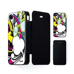 Rainbow Carcasa Protectora Snap-On Negra en Formato Duro para Apple® iPhone 4 / 4s de Gangtoyz + Se incluye un protector de pantalla transparente GRATIS