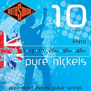rotosound pn10 pure nickel electric guitar strings 10 46 musical instruments. Black Bedroom Furniture Sets. Home Design Ideas