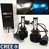 9005-HB3 CREE COB LED 6K White 10K Blue Conversion Kit Headlight High Beam - Replace HID Xenon Stock Hi Lamp Light Bulb
