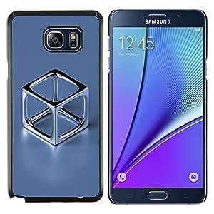 TECHCASE---Cubierta de la caja de protección para la piel dura ** Samsung Galaxy Note 5 ** --Cromo Cube