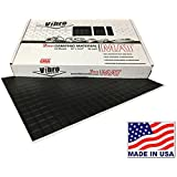 Vibro-2mm Black Car Sound Deadening Mat -Audio Noise Insulation Car Sound Dampening- Sound Dampener Insulator- Automotive Sound Deadener- Butyl-20 sheets -BUY Made in AMERICA- Not Russia or China