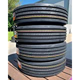 Set of 4 (FOUR) Cosmo CT518 Plus All-Season Commercial Radial Tires-255/70R22.5 140/137L LRH 16-Ply