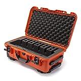 Nanuk 935 Waterproof Professional Gun Case, Military Approved, Custom Foam Insert with Wheels 6UP - Orange