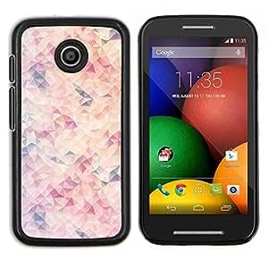 EJOOY---Cubierta de la caja de protección para la piel dura ** Motorola Moto E ** --Púrpura Naranja Rosa Sun abstracto