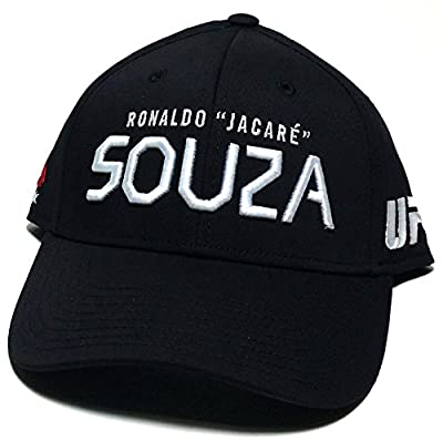 UFC Reebok MMA Ronaldo Jacare Souza Brazil Fighter Black Flex Fitted Hat Cap S/M by Reebok