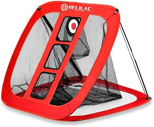 RELILAC Pop Up Golf Chipping Net – Indoor Outdoor Golfing Target Accessories for Backyard Accuracy and Swing Practice – Great Gifts for Men, Dad, Mom, Husband, Women, Kid, Golfers