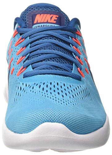 Nike Herren Lunarglide 8 Laufschuhe Turquoise (chloor Blauw / Binair Blauw / Industrial Blauw / Hyper Oranje / Wit)