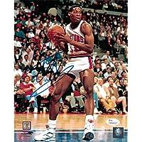 $63 Get Dennis Rodman Autographed Signed Detroit Pistons 8x10 Photo in Blue - JSA Certified