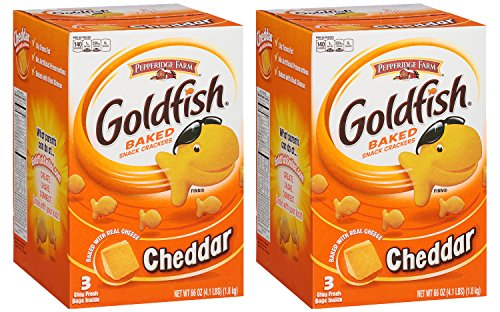 Pepperidge Farm Baked Goldfish Crackers - 3 ctn (Pack of 2) by