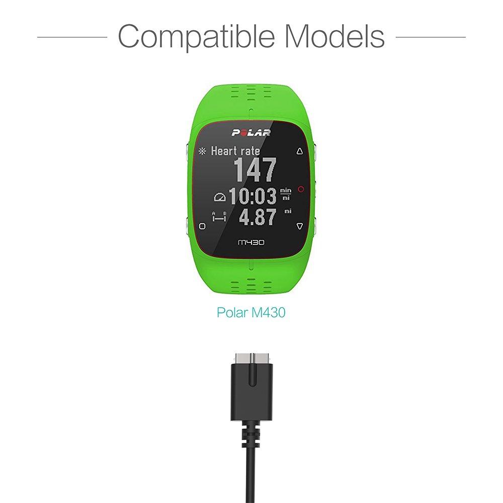 TUSITA Cargador para Polar M430 (2 Unidades) - USB Cable De Carga 100cm - GPS Relojes Accesorios
