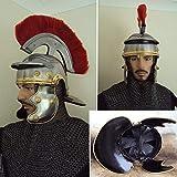AnNafi Roman Centurion Helmet w/Red Plume Armor