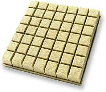 49 Rockwool Grow Cubes (1.5 Inches) - Growing Medium Starter Sheets (49 Per Pack)