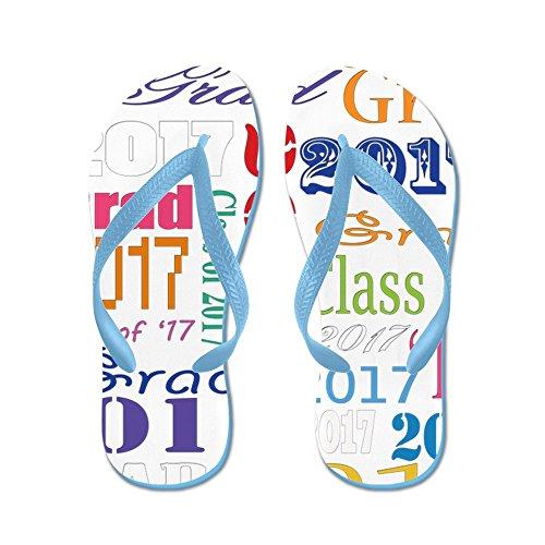 Cafepress 2017 Grad - Flip Flops, Roliga Rem Sandaler, Strand Sandaler Caribbean Blue