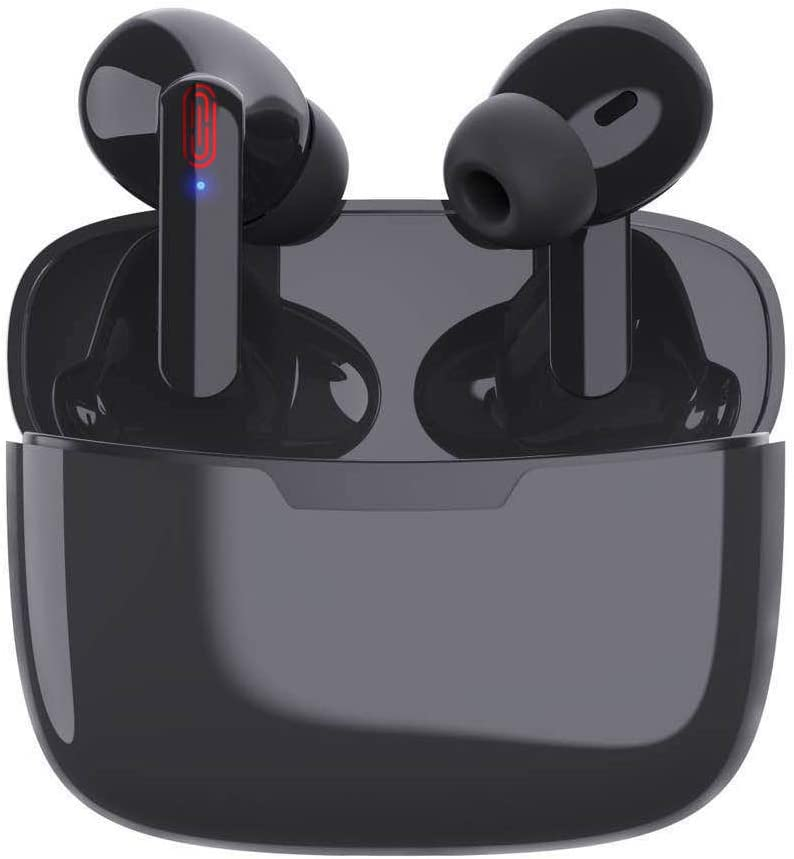 Wireless Earbuds Bluetooth 5.0 in-Ear Headphones with 24-Hour Charging Case IPX5 Waterproof 3D Stereo Built-in Microphone, Earpods for Apple Airpods Pro/Android/iPhone/Samsung Earbuds