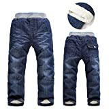 Winter Thick Fashion Boys Pants Kids Trousers Girls Baby Children Jeans SL1483 5