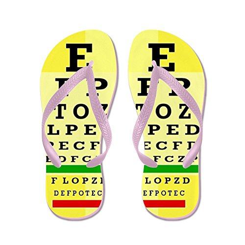 Cafepress Eye Chart Ff 5.png - Flip Flops, Grappige String Sandalen, Strand Sandalen Roze