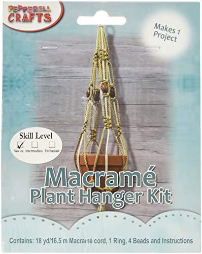 Pepperell MAC158 Macrame Plant Hanger Kit, Multicolor ()