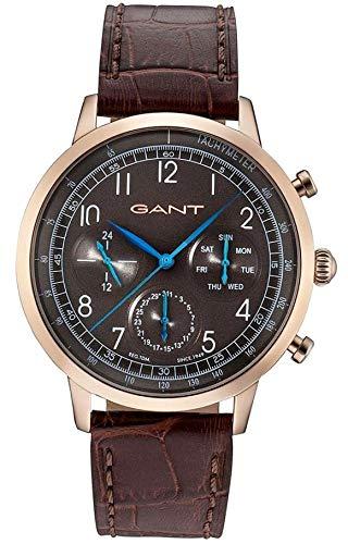 Gant Reloj Multiesfera para Hombre de Cuarzo con Correa en Cuero W71204: Amazon.es: Relojes