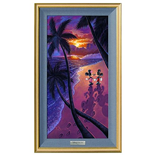 'Sunset Stroll' Framed Limited Edition Canvas by Tim Rogerson from the Disney Silver Series; with COA Sunset Stroll Framed Limited Edition Canvas by Tim Rogerson from the Disney Silver Series; with COA