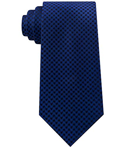 Sean John Mens Houndstooth Self-tied Bow Tie Blue One Size