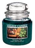 Village Candle Christmas Tree 16 oz Glass Jar Scented Candle, Medium