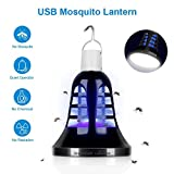 Bug Zapper Lantern - 2 IN 1 Mosquito Killer Lamp & Night LED Light - USB and Solar Charging - Lightweight and Portable for Indoor&Outdoor, Home&Camping [2018 Upgraded]